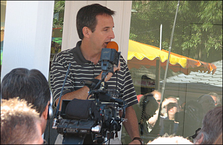Gov. Tim Pawlenty appeared at the State Fair today, not with Sen. John McCain.