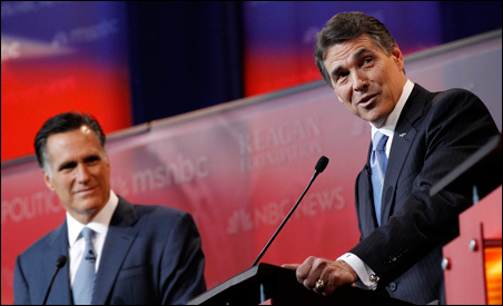 Texas Gov. Rick Perry was criticized during Wednesday's debate for his controversial 2007 executive order mandating HPV vaccinations.