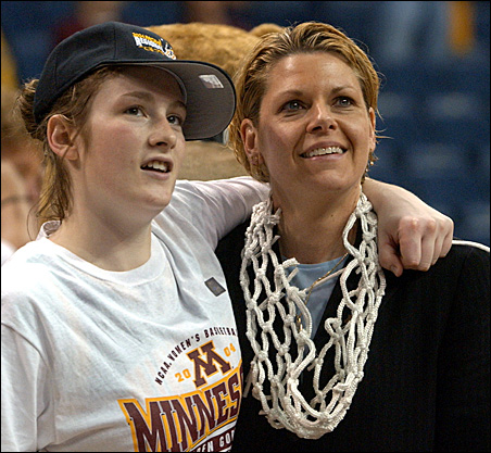 Lindsay Whalen and Pam Borton
