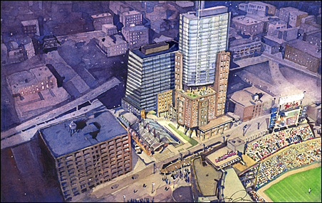 "35-story ""sports and entertainment condominium"" development"