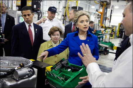 Democratic presidential candidate Sen. Hillary Clinton