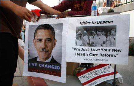 Health care reform town hall meeting in California
