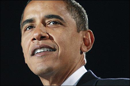 President-elect Obama speaking in Grant Park last night.