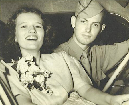 Patricia Lucille Berry and husband Airman Robert McKewin, from the oral history about Berry by McKewin.