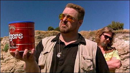 "John Goodman and Jeff Bridges in a scene from ""The Big Lebowski."""