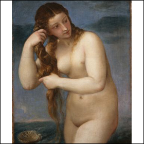 """""""Venus Rising from the Sea"""" by Titian"""
