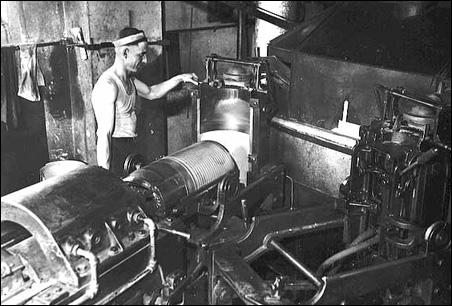 Press room circa 1930