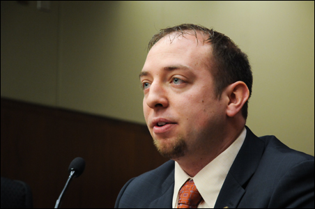 Rep. John Kriesel testified Thursday about his bill before the House Education Finance Committee.