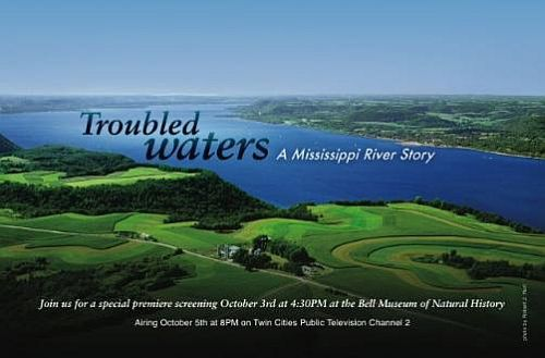 A flier for the since-canceled premiere of 'Troubled Waters'