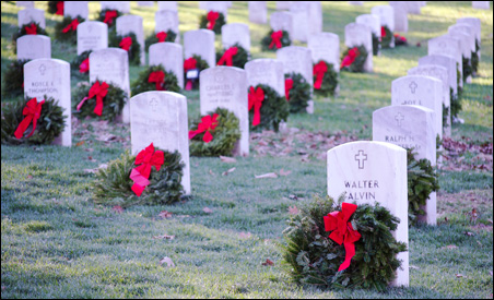 Wreaths Across America hopes to lay a wreath on every grave in the cemetery one year.