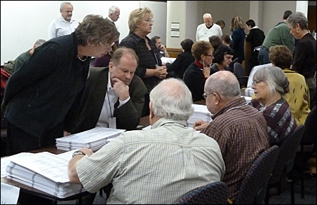 Recount scenes like this played out throughout the state this week.