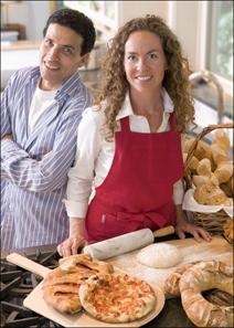 Dr. Jeff Hertzberg and baker Zoe Francois