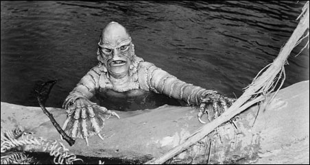 """""""The Creature from the Black Lagoon,"""" playing in 3D at the Trylon"""