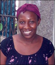 """Vana Edmond, one of the Haitians interviewed for """"Images of Haiti, Stories of Strength"""""""