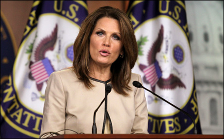 "Bachmann called Obama ""politically paralyzed and philosophically incapable of doing what needs to be done"" to help the economy."