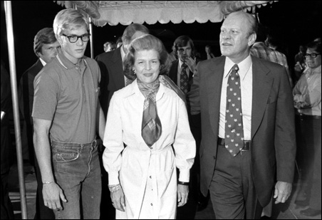 Mrs. Ford, with America's only unelected president, Gerald R. Ford