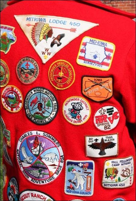 Scout Leader's jacket back