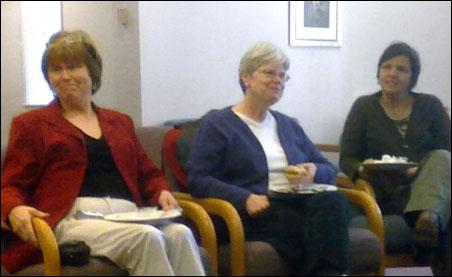 Sustainability Book Club members Jacki Betsworth, Margaret and Suzanne Hansen