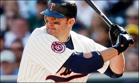Jim Thomes used a maple bat to crush the home run that nearly hit the top of the flagpole at Target Field last Labor Day.