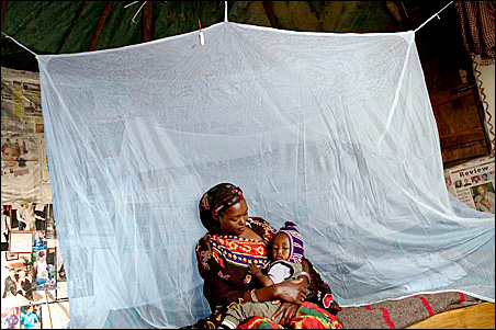 PermaNet kills or repels mosquitos for up to four years, helping to prevent the spread of malaria in Africa.