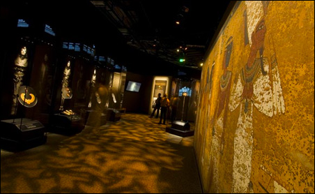 Tutankhamun: The Golden King and the Great Pharaohs exhibit