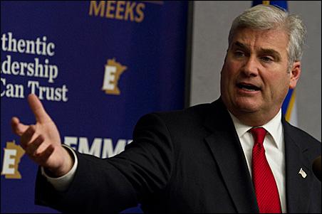 GOP gubernatorial candidate Tom Emmer today unveiled his budget-balancing plan.