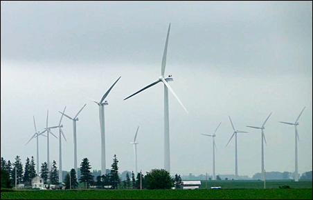 Most wind farms in the state have cropped up in southern Minnesota fields.