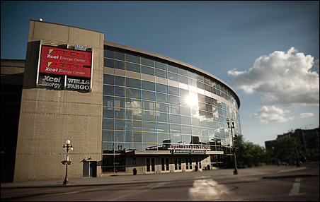 Mayor Coleman's plan would involve moving the Timberwolves to St. Paul's Xcel Energy Center.