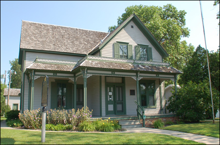 The boyhood home of Sinclair Lewis in Sauk Centre.