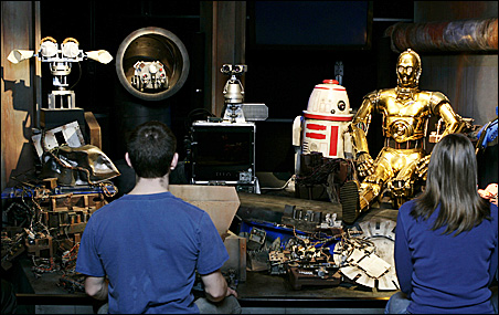 Star Wars: Where Science Meets Imagination exhibit's Robot Object Theater