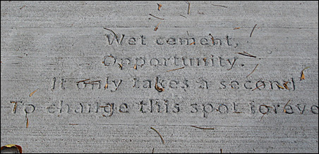 Sidewalk poems are showing up in the neighborhoods of St. Paul.