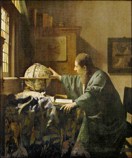 """Vermeer's """"The Astronomer"""" will be part of the 90-piece exhibition titled """"The Louvre and the Masterpiece,"""" opening Oct. 18, 2009, at the Minneapolis Institute of Arts."""