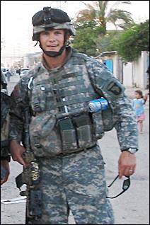Peter Hegseth on patrol in Iraq.