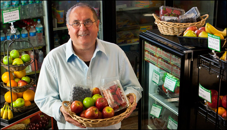 Nowadays the more fruit Bassem Kablaoui buys, the more he sells.