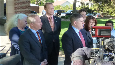 GOP leadership spoke to the press following Tuesday morning's meeting with Gov. Mark Dayton.