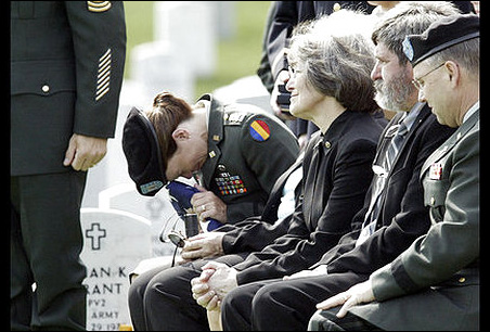 Army Captain Lisa Lourey, Minnesota State Sen. Becky Lourey and Eugene D. Lourey