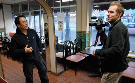 Nick Clausen interviews Pho Ca Dao restaurant owner Alex Pham.