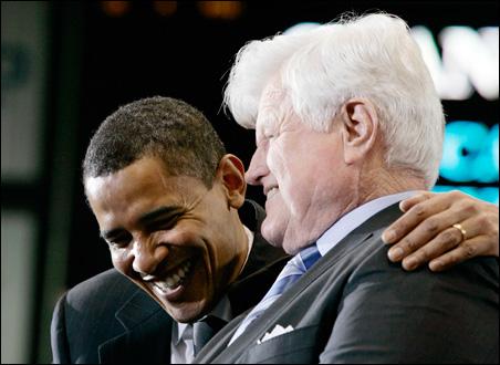 Barack Obama, Ted Kennedy