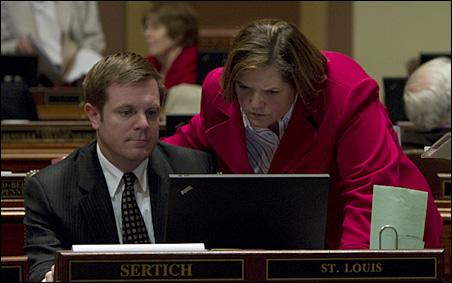 House Majority Leader Tony Sertich and House Speaker Margaret Anderson Kelliher
