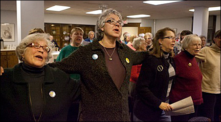 A January gathering of Minnesota Community Sings. The next community sing will take place Saturday in downtown Minneapolis.