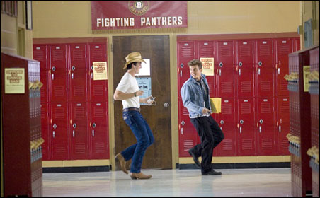 """Miles Teller and Kenny Wormald in """"Footloose"""""""