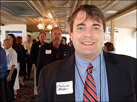 GOP delegate Chadwick Melder of Louisiana knows of the river's importance to Baton Rouge.