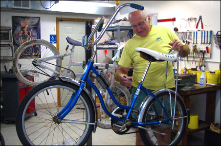 Jim Muellner, an entrepreneur who scored big with  the Smarte Carte luggage carrier, fixes bikes and donates them to kids in the East Metro.