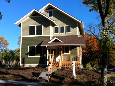 The first new home in the Hawthorne EcoVillage