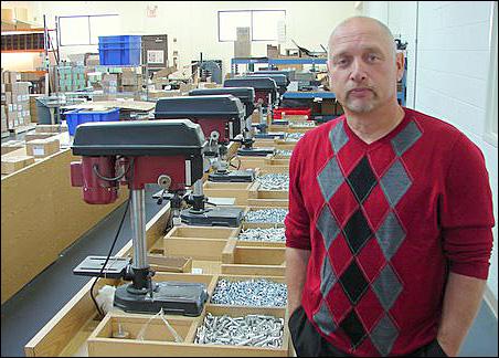 John Wayne Barker, Merrick's executive director, at a workstation