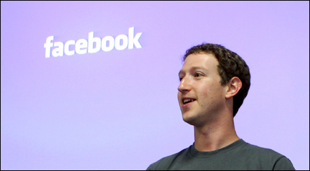 CEO Mark Zuckerberg speaking during a news conference at Facebook's headquarters in Palo Alto, California, earlier this year.