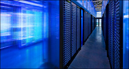 Data centers, like these Facebook servers, generate enormous amounts of heat.