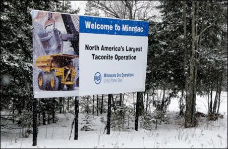 Minntac sign