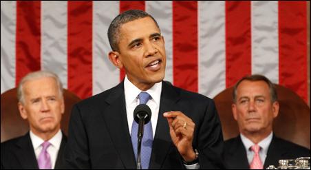 President Barack Obama addressing a joint session of Congress on Thursday.