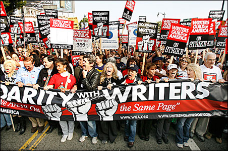 Writers Guild of America rally